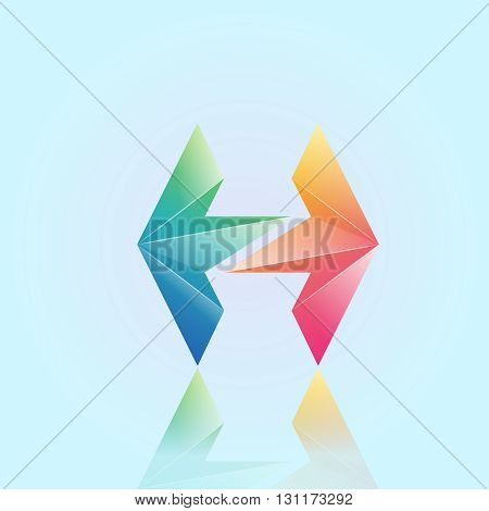 3d h letter  logo design 100%vector easy to re edit and re-size up to your target