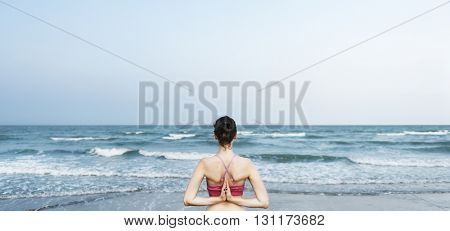 Balance Beach Energy Meditate Peace Relaxation Concept