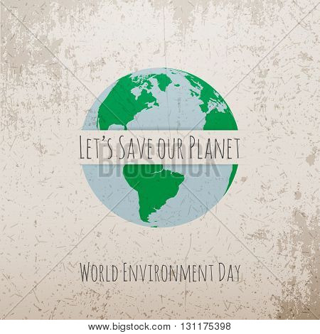 World Environment Day Eco Concept Template. Vector Illustration.