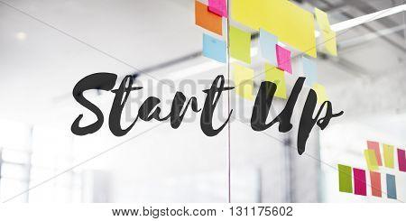 Start Up Business Enterprise Ideas Launch Mission Concept