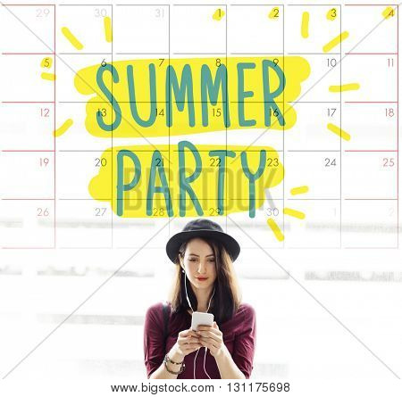 Sumer Party Celebration Summertime Beach Concept