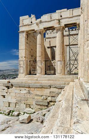 Acropolis entrance details, Athens, Greece
