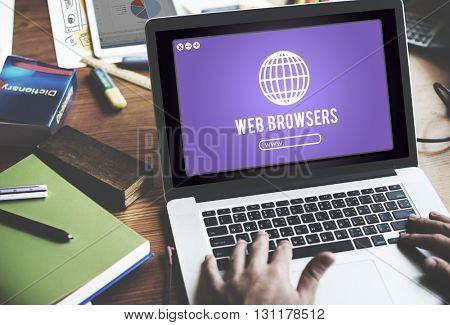 Web Browser Internet Net Technology Concept