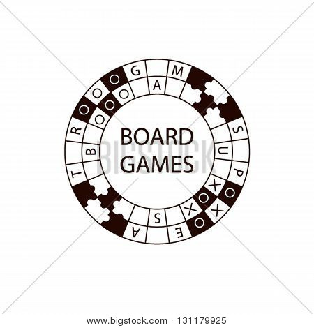 Vector Circle Logo Board Game.