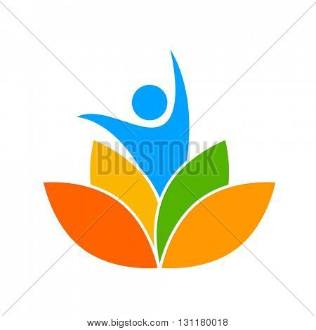 Yoga logo. Design template. Yoga identity. Illustration for yoga studio, event, school, club, web.
