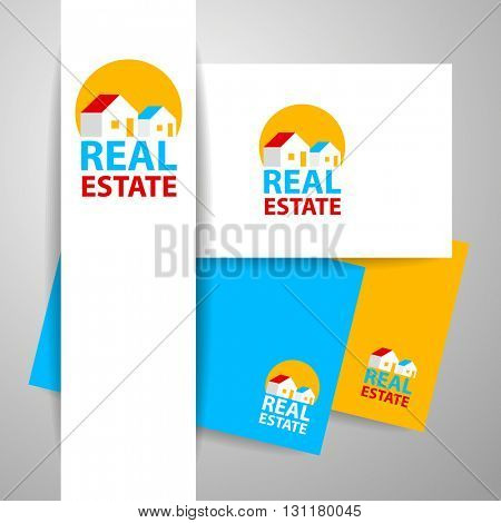Real Estate Logo design template. Identity concept.