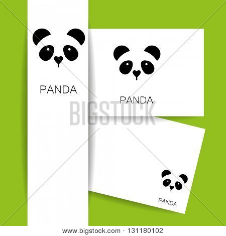 Panda logo. Panda design identity presentation template. Asian bear idea for logo, emblem, symbol, icon.