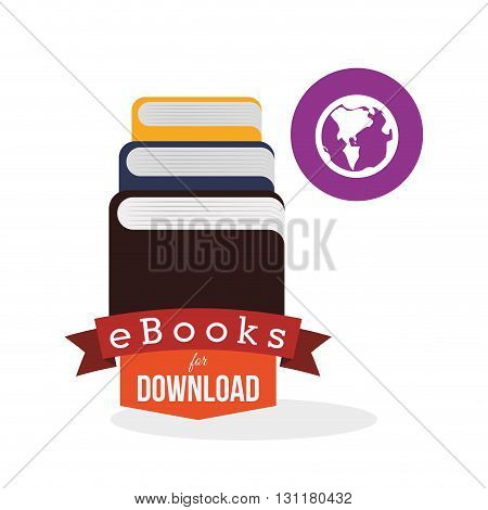 eBook concept with icon design, vector illustration 10 eps graphic.