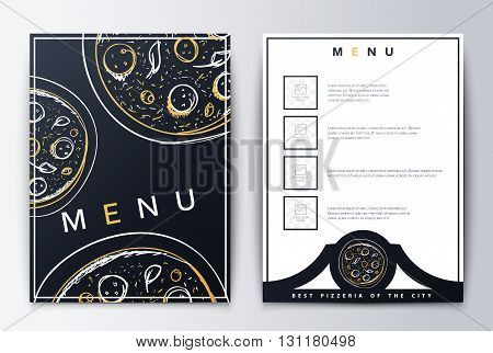 Design menu. Menu food. Brochure culinary menu. Menu background for restaurant or coffee. Menu for the restaurant. Menu with pizza emblema. Menu background. Restaurant menu