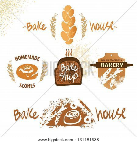 Logo For Fresh Bakery Products From Wheat And Rye Flour, Decorat