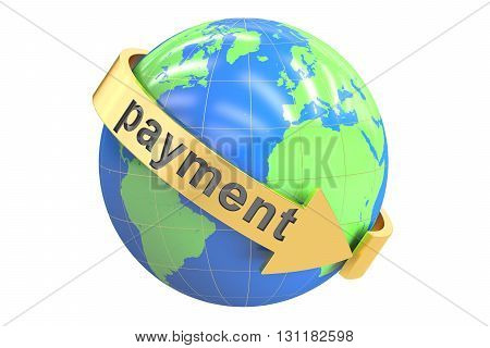Payment World concept 3D rendering isolated on white background