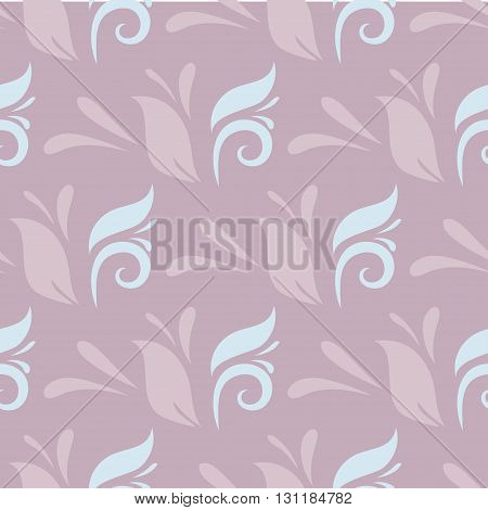 Abstract doodle violet seamless background. Vector illustration