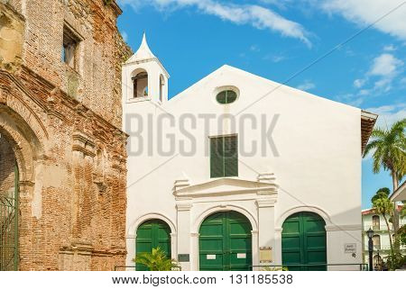 Ruin Of The Santo Domingo Convent, Casco Viejo, Panama City, Panama, Central America