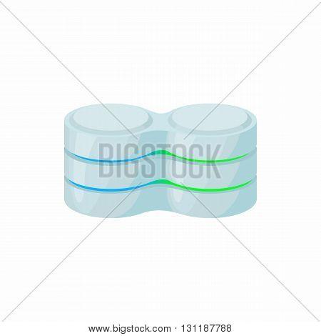 Cell database icon in cartoon style isolated on white background. Data storage symbol