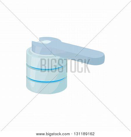 Restore database icon in cartoon style isolated on white background. Data storage symbol