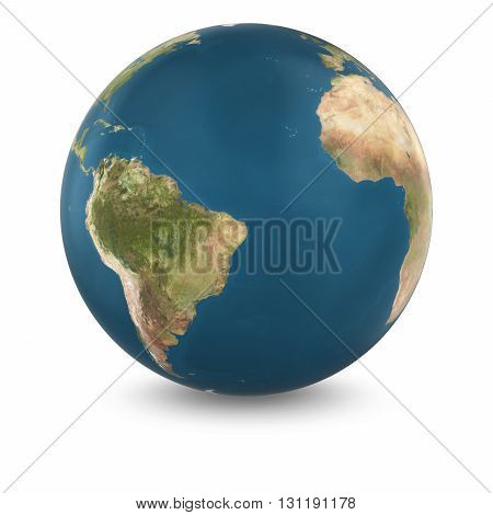 3D Illustration Of Cloudless Planet Earth - Elements Of This Image Furnished By Nasa