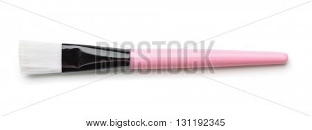 Top view of make up brush isolated on white