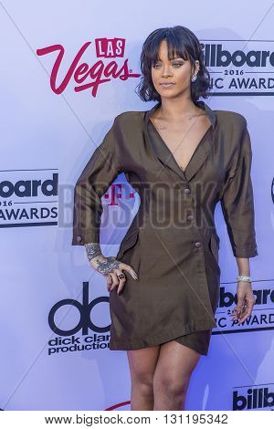 LAS VEGAS - MAY 22 : Singer Rihanna attends the 2016 Billboard Music Awards at T-Mobile Arena on May 22 2016 in Las Vegas Nevada.