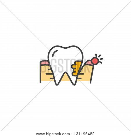 Periodontitis icon. Gum Disease vector sign Tooth pain.