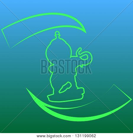 Green logo with an elephant on natural background