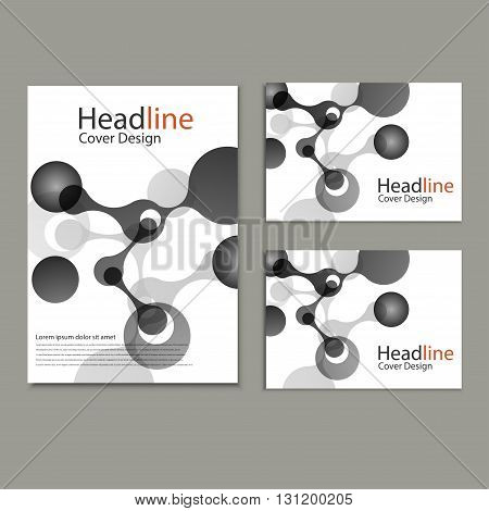 Vector abstract molecular structure. Cover template design.
