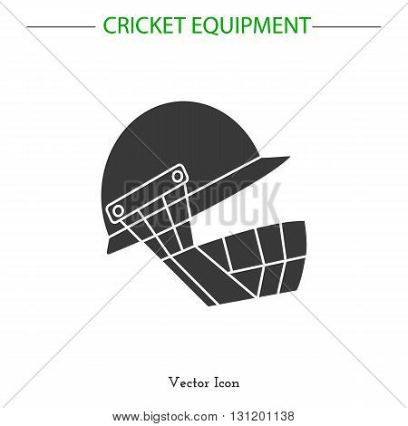Sport icon. Cricket game equipment. Vector illustration