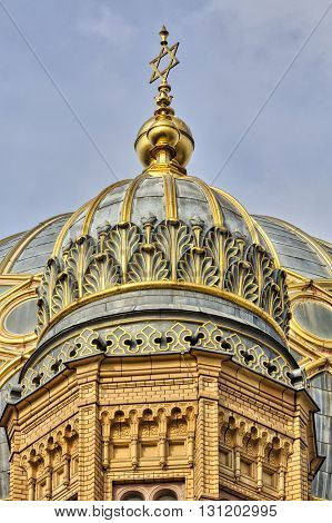 Golden Star Of David An The Synagogue Berlin