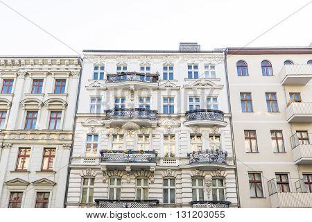 old houses in Berlin Kreuzberg in summer