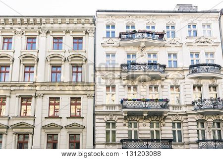 Old Houses And Blue Sky In Berlin Kreuzberg