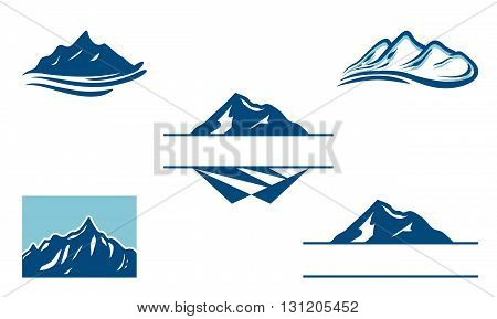 Symbol of Cool Peak Mountain Logo Bundle