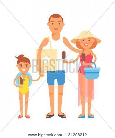 Vacation family vector illustration.