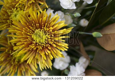 Assorted Bouquet Of Flowers With Chrysanthemums And Carnations