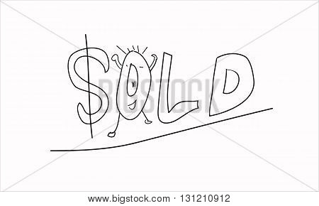 sold something make a people happy ending