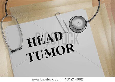 Head Tumor Medicial Concept