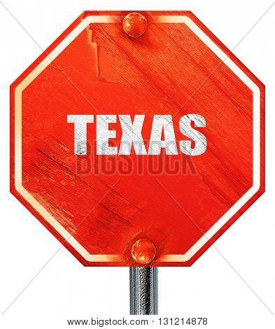 texas, 3D rendering, a red stop sign