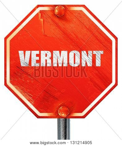 vermont, 3D rendering, a red stop sign