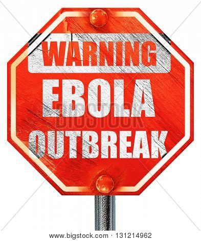 Ebola outbreak concept background, 3D rendering, a red stop sign