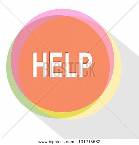 help. Internet template. Vector icon.