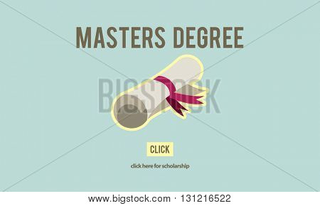 Master's Degree Knowledge Education Graduation Concept