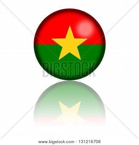 Burkina Faso Flag Sphere 3D Rendering