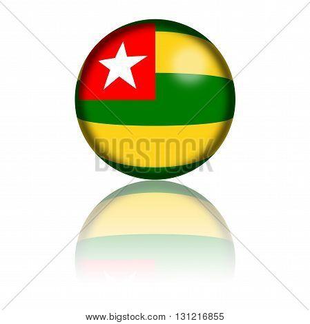 Togo Flag Sphere 3D Rendering