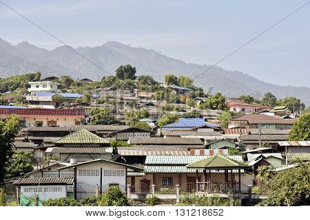Chinese district in the town of Pai Thailand.