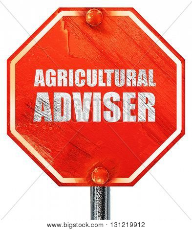 agricultural adviser, 3D rendering, a red stop sign