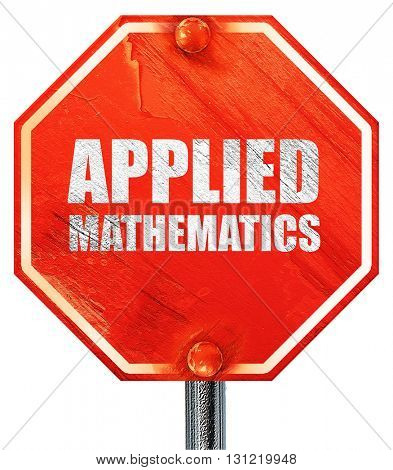 applied mathematics, 3D rendering, a red stop sign