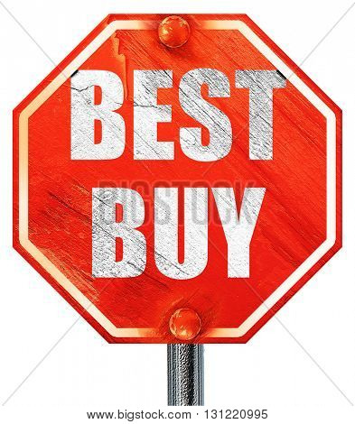 best buy sign, 3D rendering, a red stop sign