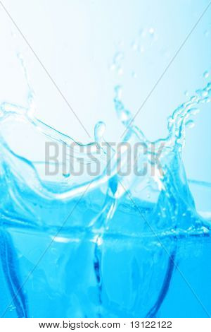 Fantastical water background. Drops, waves, splashes.