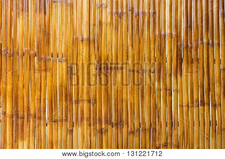 Brown bamboo wall old bamboo texture background.