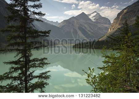 Kinney Lake near Valemount British Columbia in the Mount Robson region of North Thompson Berg Lake Trail