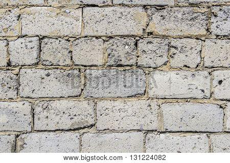 Wall made of big rough concrete blocks