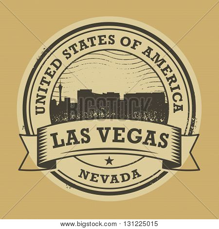 Grunge rubber stamp or label with name of Nevada, Las Vegas, vector illustration